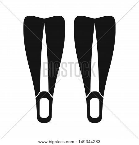 Flippers icon in simple style on a white background vector illustration