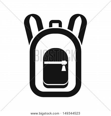 Backpack icon in simple style on a white background vector illustration