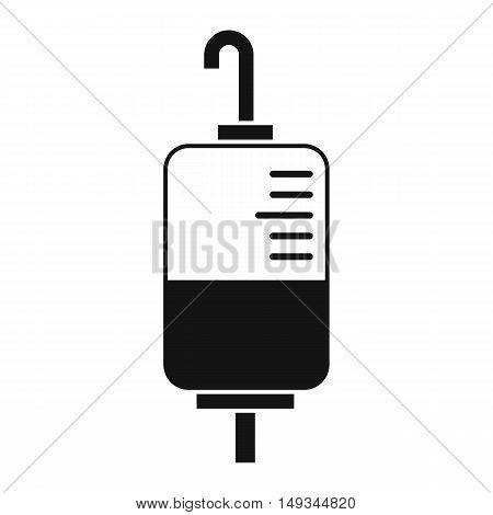 Blood donation icon in simple style on a white background vector illustration