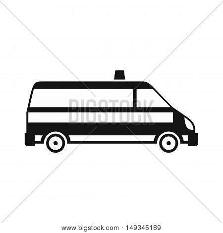 Ambulance car icon in simple style on a white background vector illustration