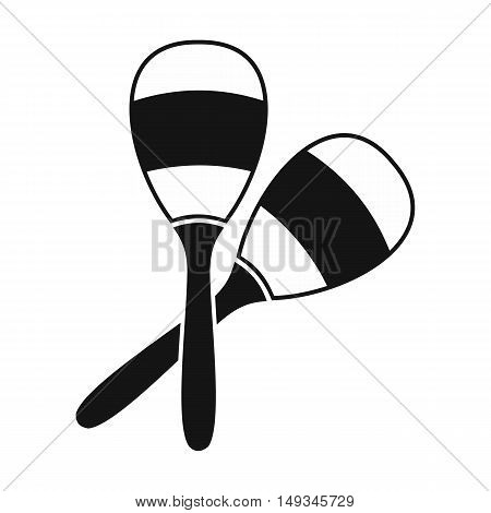 Maracas icon in simple style on a white background vector illustration