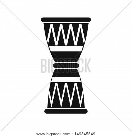 African drum icon in simple style on a white background vector illustration