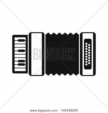 Accordion icon in simple style on a white background vector illustration