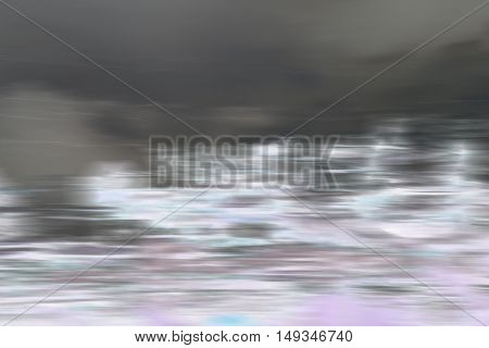 Negative abstract motion blur lake in horizontal 3:2 format.