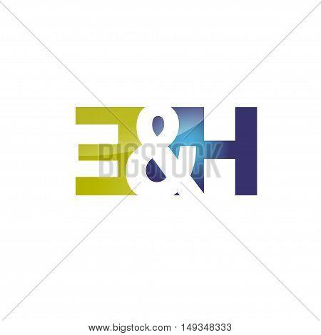 elegant modern letter E and H logo vector