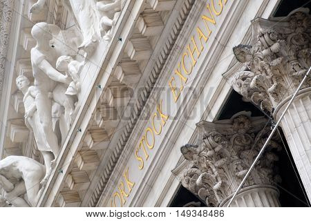 Detail of the New York Stock Exchange