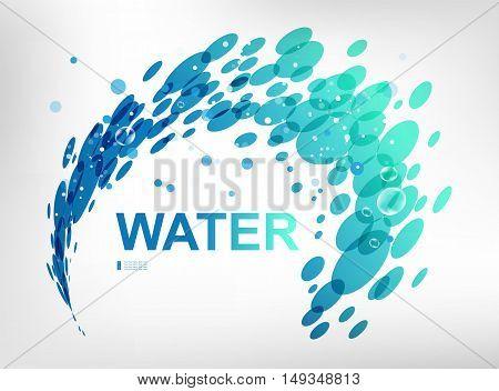Sign water spray design element on white background
