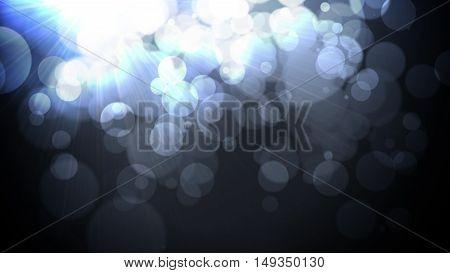Defocused Vintage shiny lights Christmas Bokeh background like splashes