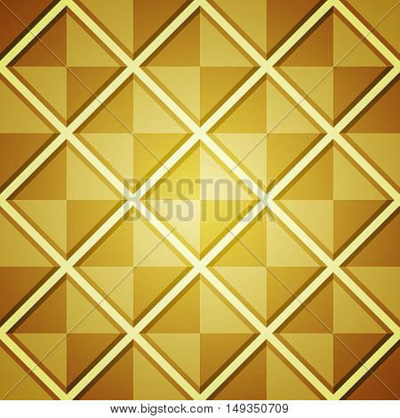 Abstract Background With Golden Squares.