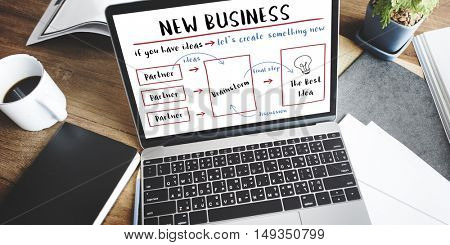 New Business Plan Strategy Diagram Concept
