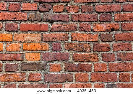Old grunge brick wall as vintage background