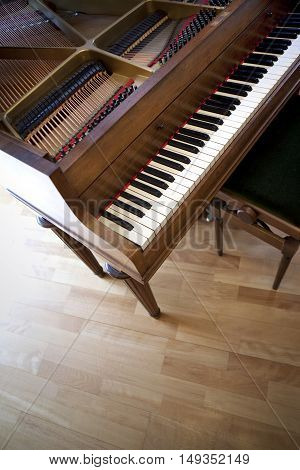 Close Up Of A Grand Piano