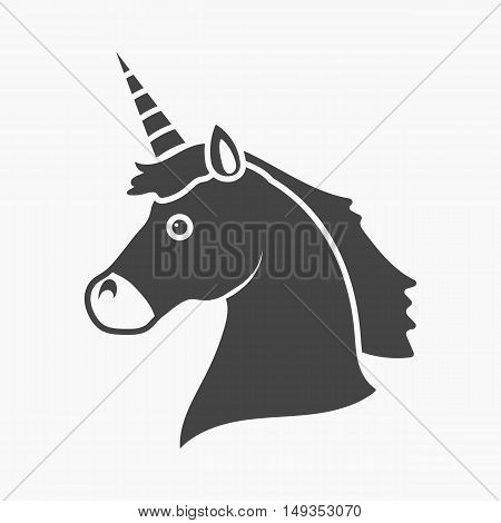 Unicorn icon cartoon. Single gay icon from the big minority, homosexual collection.