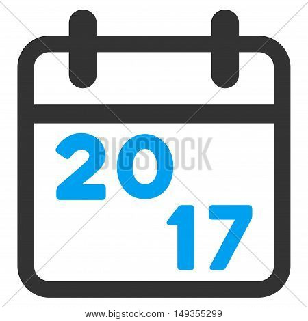 2017 Calendar icon. Vector style is flat iconic symbol on a white background.