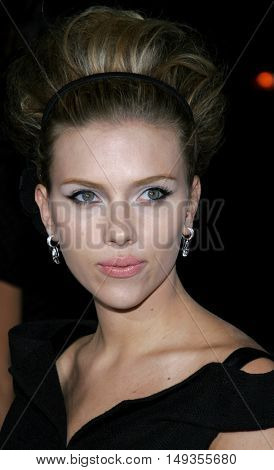 Scarlett Johansson at the Los Angeles premiere of 'The Black Dahlia' held at the Academy of Motion Picture Arts and Sciences in Beverly Hills, USA on September 6, 2006.