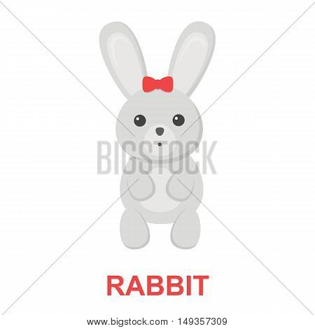 Rabbit cartoon icon. Illustration for web and mobile.