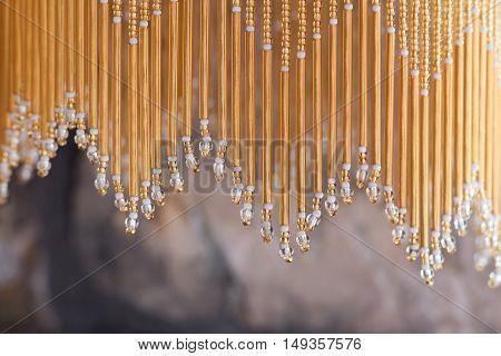 Detail of nice oriental decorative hanging beads.