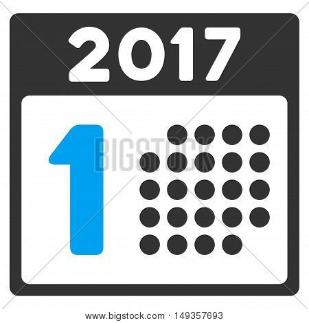 First 2017 Day icon. Vector style is flat iconic symbol on a white background.