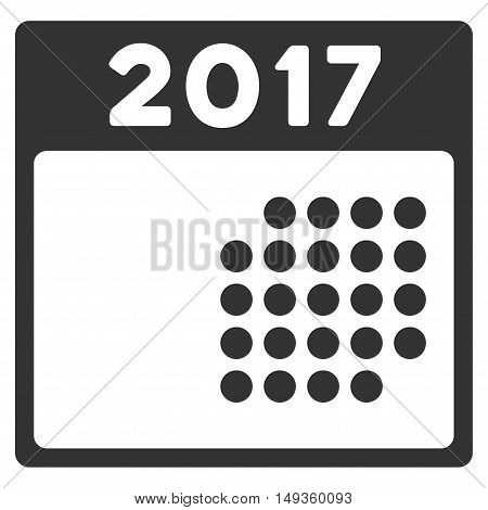 2017 Month Calendar icon. Glyph style is flat iconic symbol on a white background.