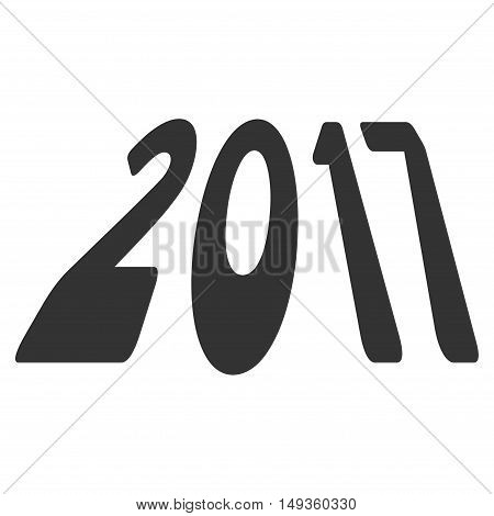 2017 Perspective icon. Glyph style is flat iconic symbol on a white background.