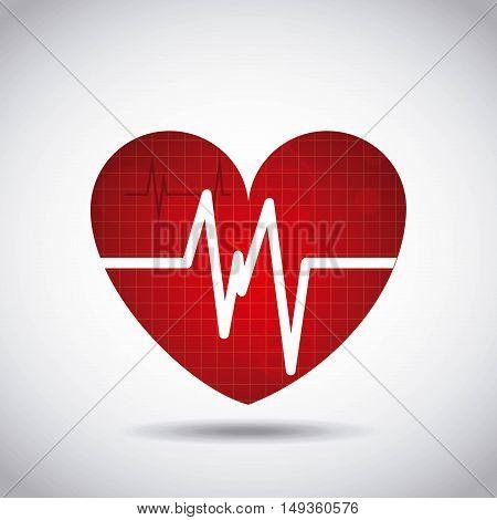 heart cardio pulse icon vector illustration design