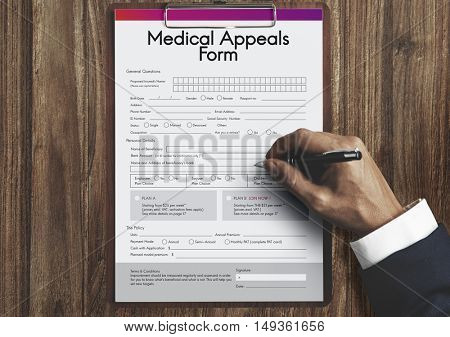 Medical Appeals Form Document Healthcare Concept