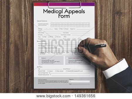 Medical Appeals Form Document Healthcare Concept