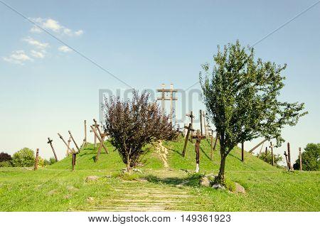 National Memorial Park of the Muhi Battle (April 11, 1241) in Muhi, Hungary.