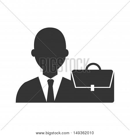 avatar businessman wearing suit and tie and executive briefcase