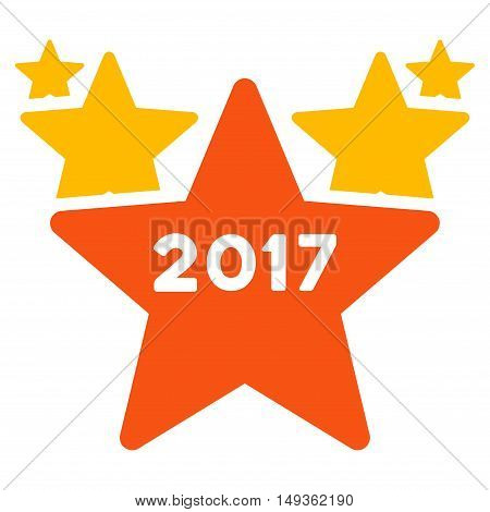 2017 Star Hit Parade icon. Vector style is flat iconic symbol on a white background.