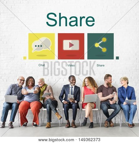 Share Social Network Connection Internet Concept