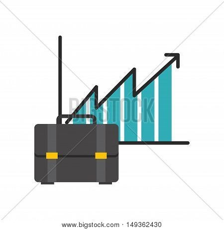 infographic with briefcase icon vector illustration design