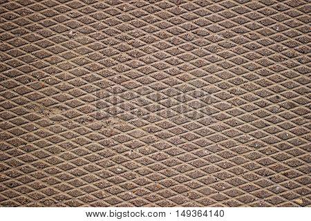 Concrete slab grid structure rough texture background.