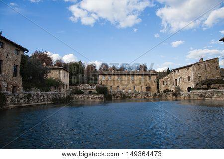 The ancient baths of Bagno Vignoni Tuscany