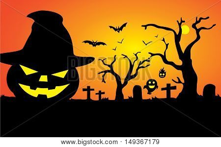 Background and illustration about Halloween in great vector file