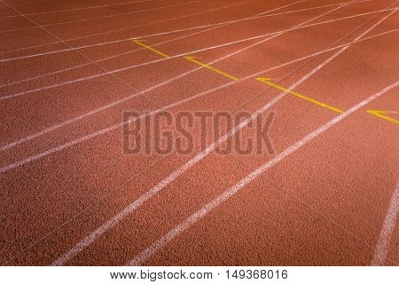Photo of running track outdoors closeup shot