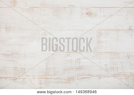 White wooden background with high resolution Copy space Top view.