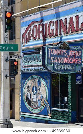 San Francisco; USA - july 13 2016 : sandwich shop in the city center