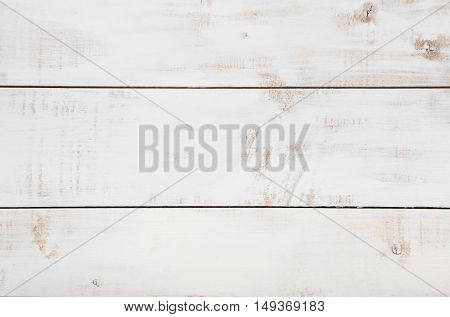 White wooden texture background with high resolution. Top view Copy space.