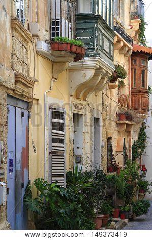 Alley In Mdina, Malta