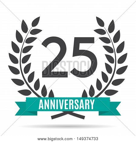 Template 25 Years Anniversary Vector Illustration EPS10