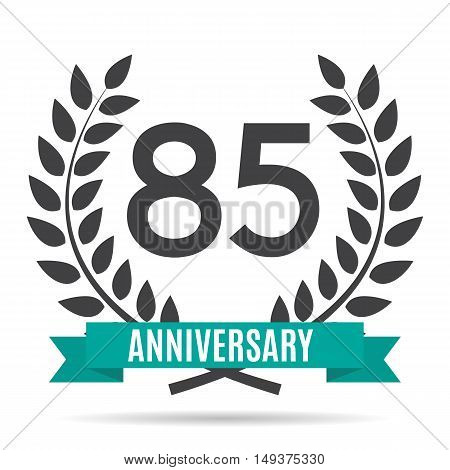Template 85 Years Anniversary Vector Illustration EPS10