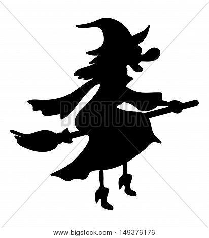 Halloween Creepy Scary Witch Vector Symbol Icon Design.