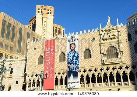 LAS VEGAS - DEC 24: Doge's Palace (Palazzo Ducale) of The Venetian and the Palazzo on Las Vegas Strip on Dec 24, 2015 in Las Vegas, Nevada, USA.