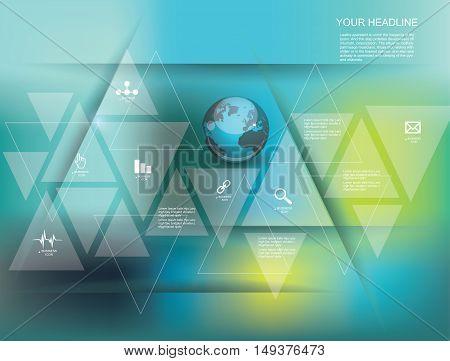 Vector Illustration Global Social Media Concept.