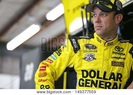 Loudon, NH - Sep 24, 2016: Matt Kenseth (20) gets ready to practice for the Bad Boy Off Road 300 at the New Hampshire Motor Speedway in Loudon, NH.
