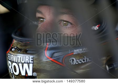 Loudon, NH - Sep 24, 2016: Martin Truex Jr. (78) gets ready to practice for the Bad Boy Off Road 300 at the New Hampshire Motor Speedway in Loudon, NH.