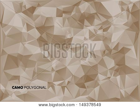 Abstract Military Camouflage Background Made Of Geometric Triangles Shapes. Vector Illustration.