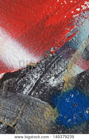 Colorful Torn Old Posters  As Abstract Colorful Textured Background 5