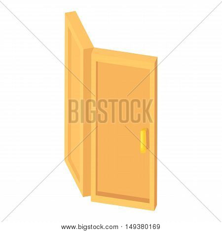 Door icon in cartoon style isolated on white background. Interior symbol vector illustration